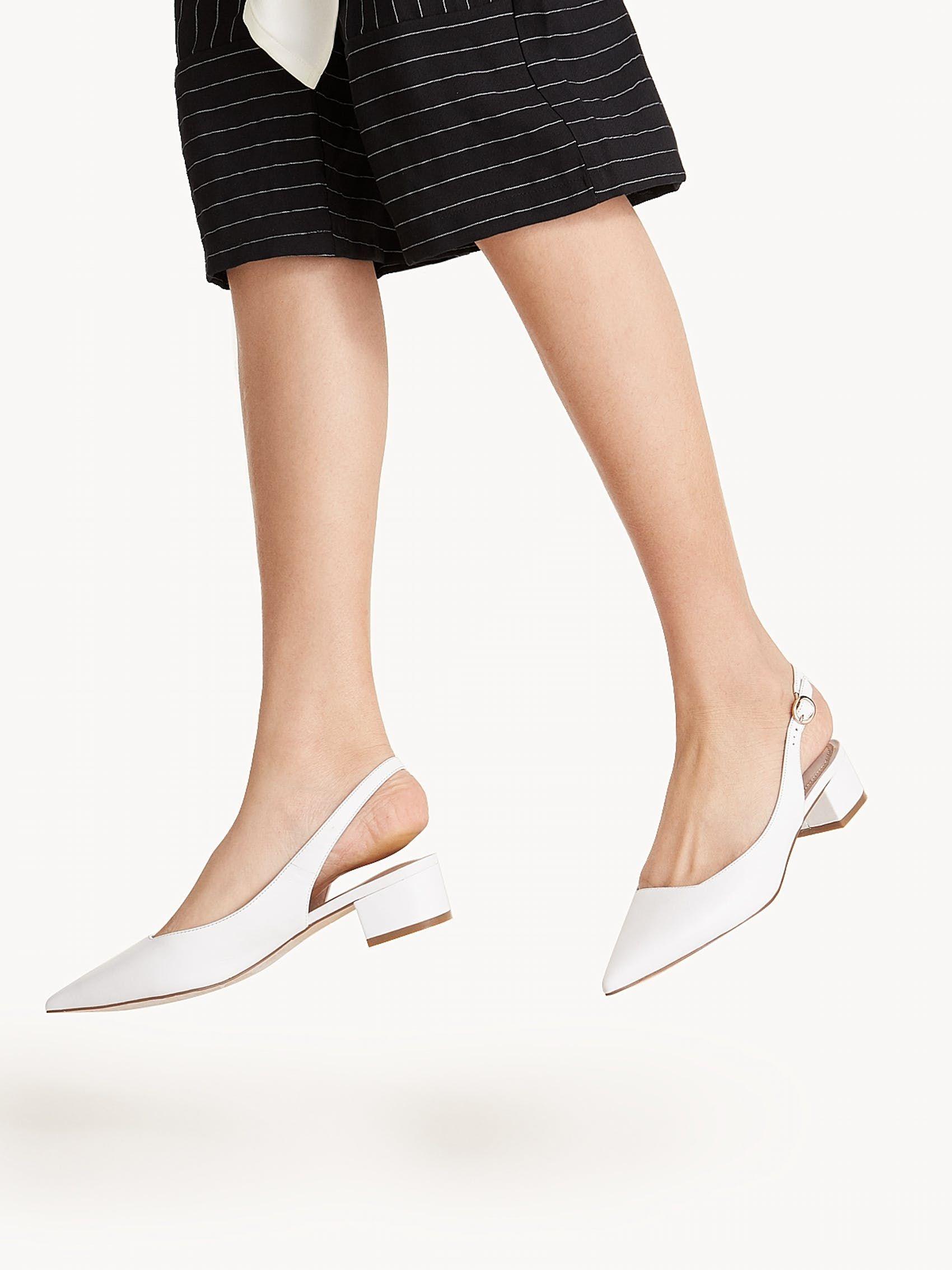 Kylie Slingback Heels White Pomelo | Put It On My Body