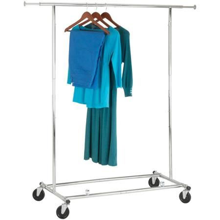 Honey-Can-Do Collapsible Chrome Garment Rack