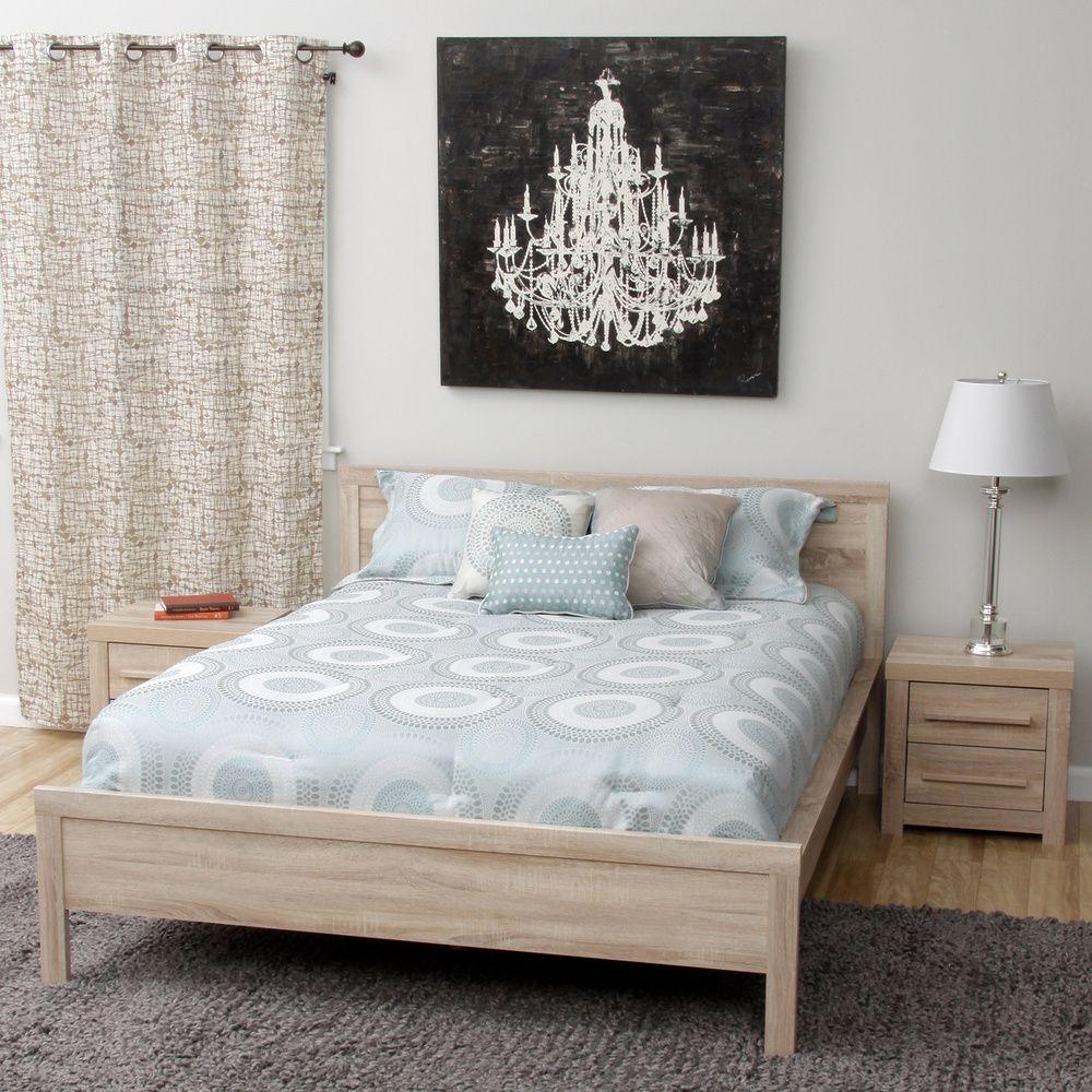 Julia Queen-size Bed and Two Nightstands Bedroom Set   Overstock ...