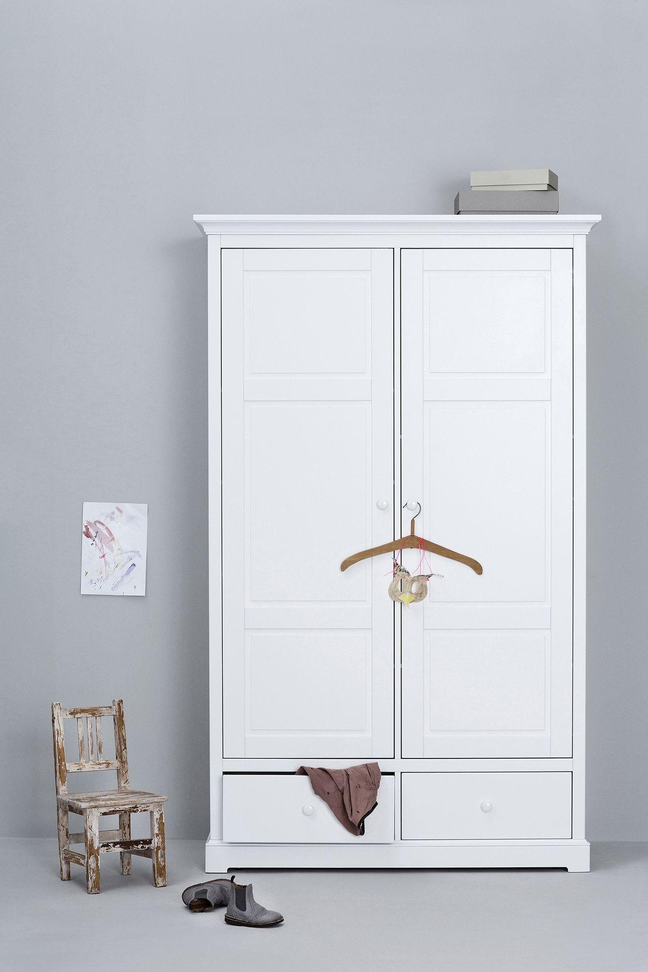 Oliver Furniture Kleiderschrank Seaside 2 Türig Weiß Kleiderschrank Kinderzimmer Kleiderschrank Jugendzimmer Kleiderschrank