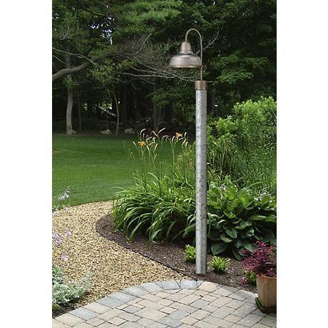 Urban Barn 15 3 4 High Galvanized Steel Outdoor Post Light 4m522 Lamps Plus Outdoor Post Lights Outdoor Lamp Posts Post Lights