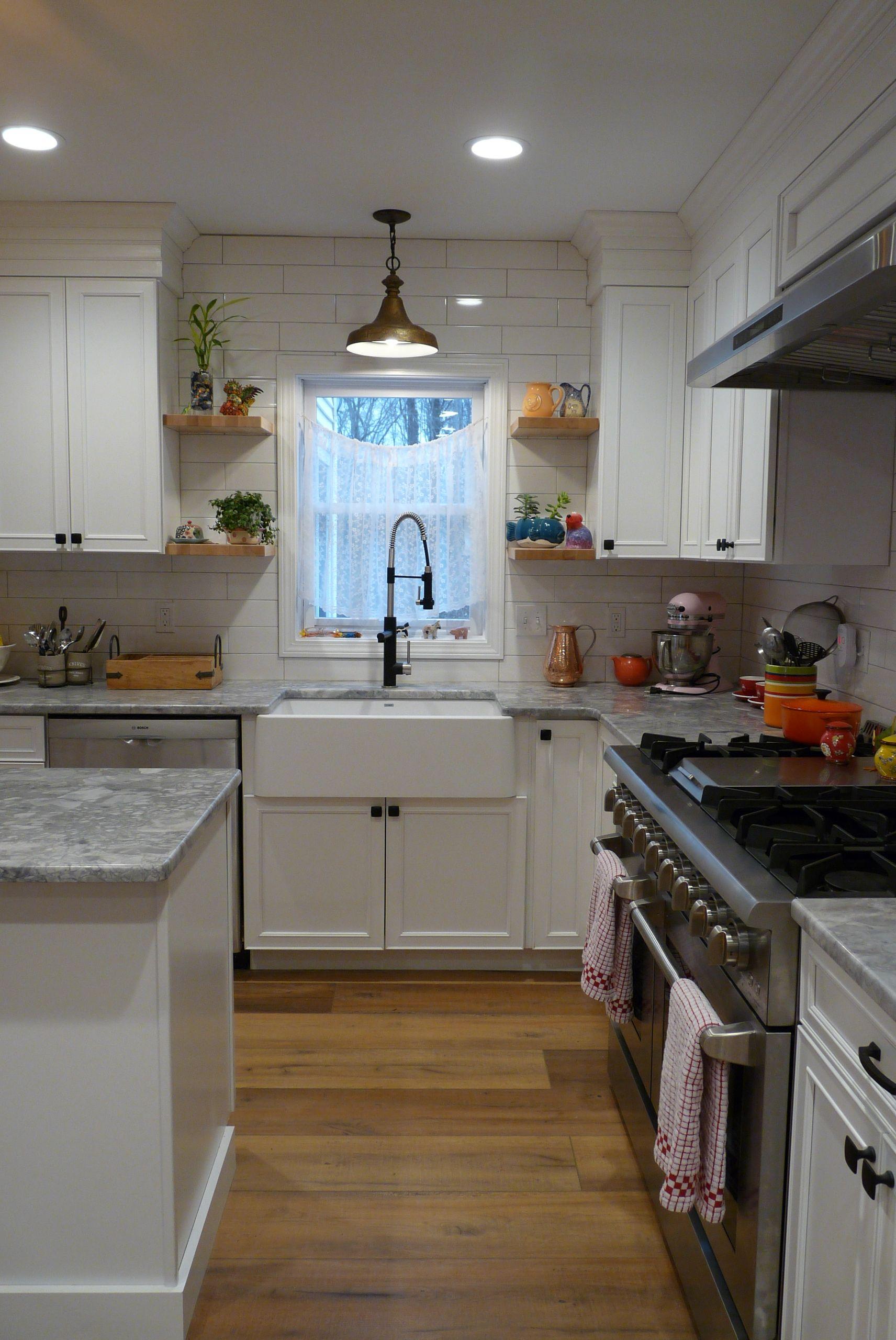 Waypoint Painted Linen Cabinets White Granite Countertops Linen Cabinets White Vinyl Flooring