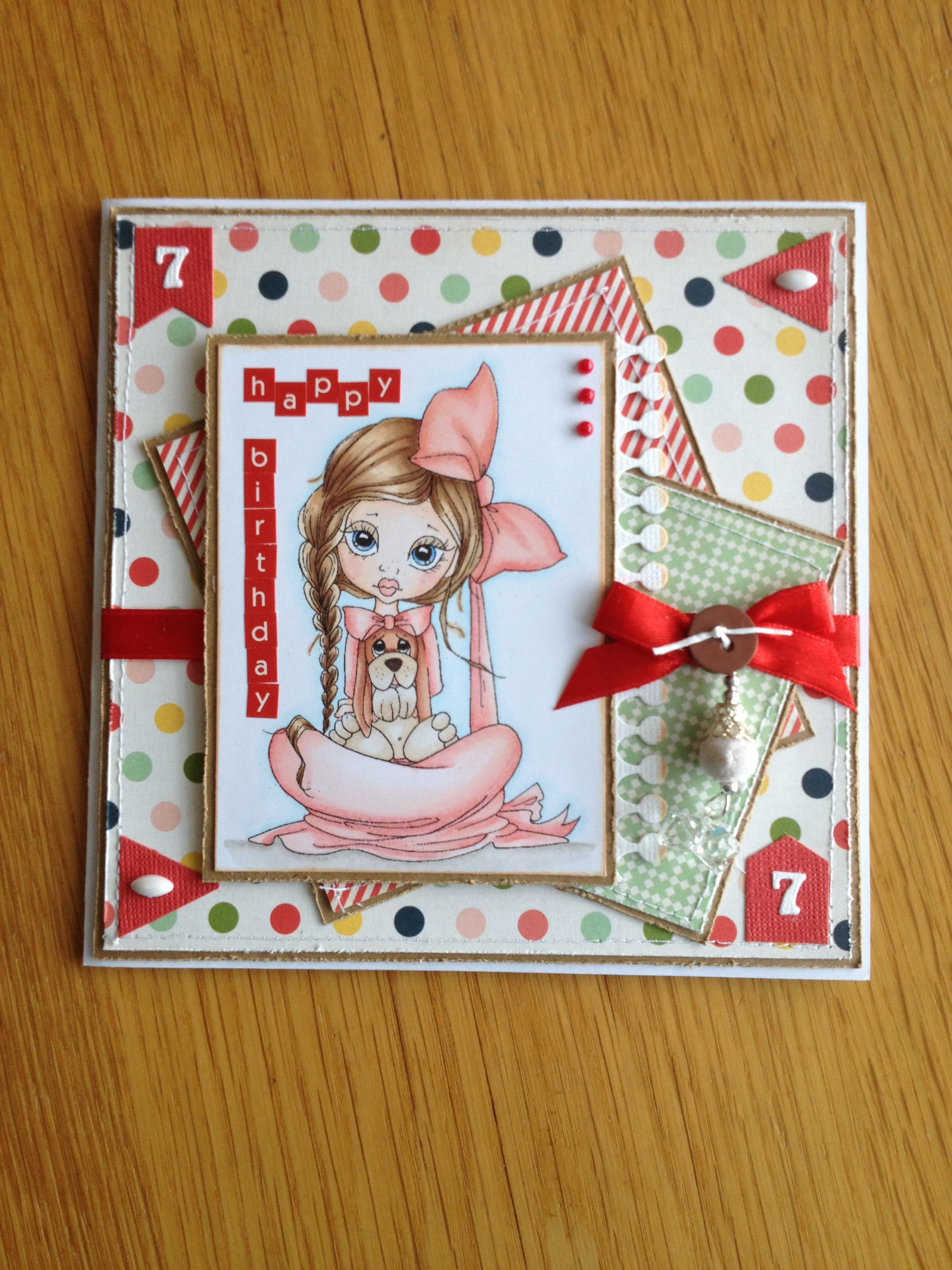 Birthday Card Girl 7 Years Old
