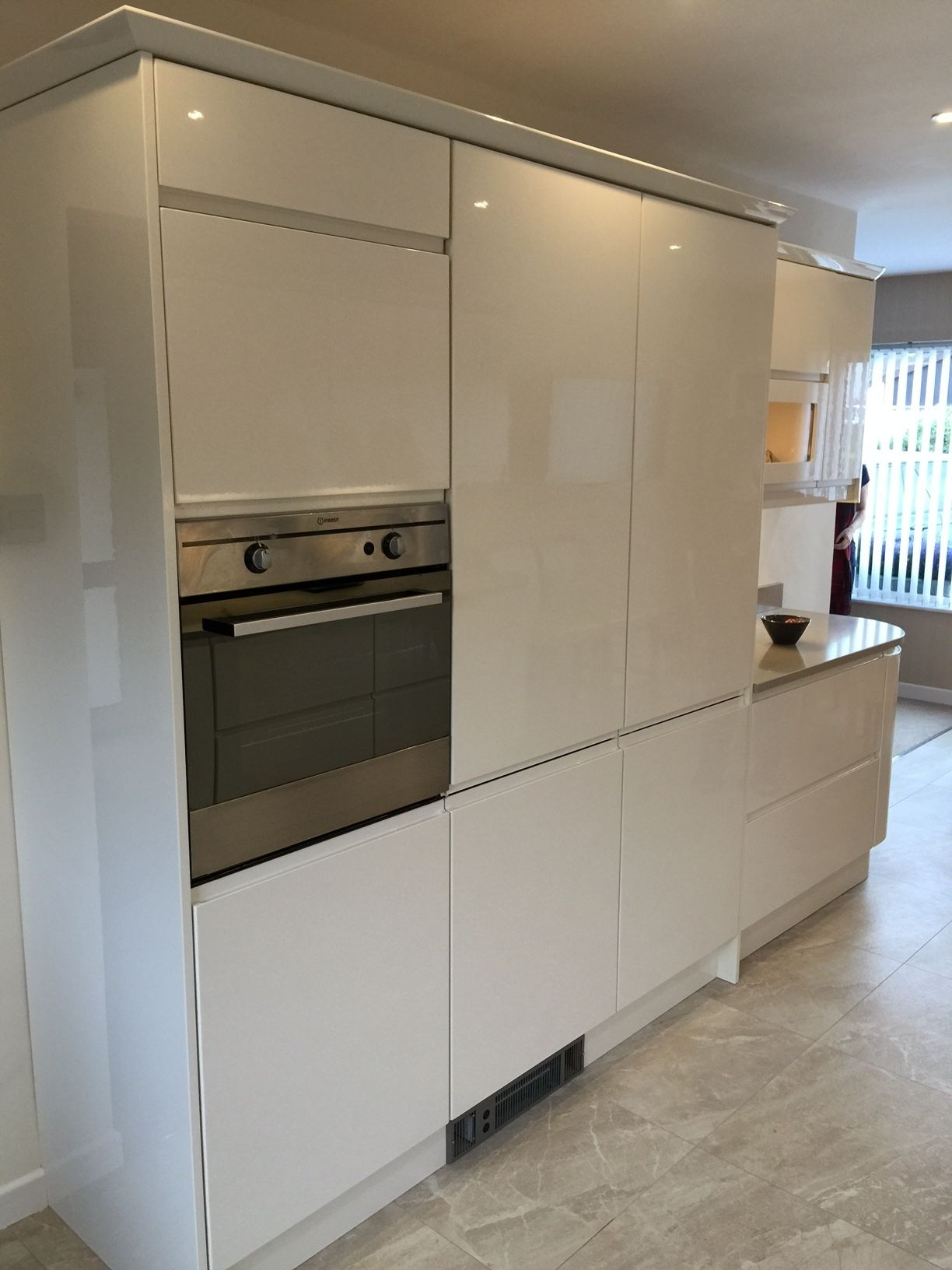 By Removing The Radiator And Adding A Plinth Heater We Were Able To Design And Install This Fabulous Unit Kitchens Direct Ivory Kitchen Kitchen Units