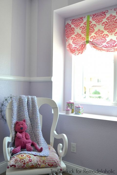 easy no sew window treatments for a little girl s room kitchen rh pinterest ca