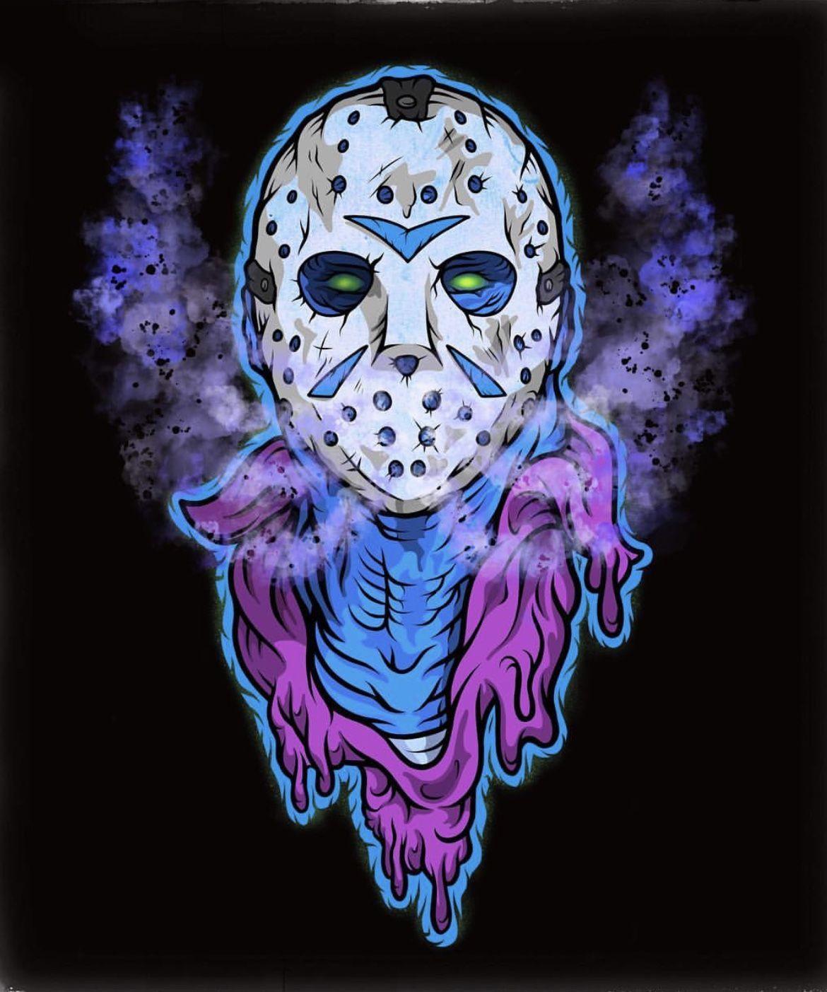 Pin by Jossy 🐘💜 on halloween Jason voorhees art, Jason