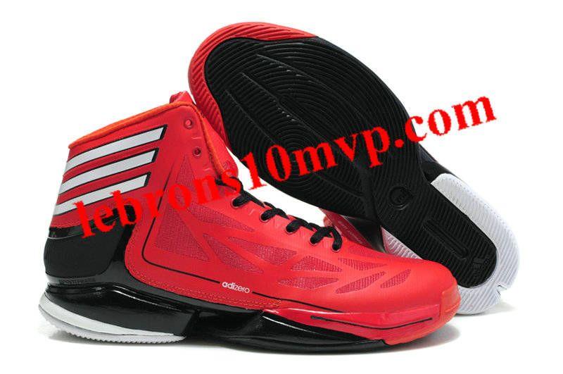 55b8fb5db14906 Adidas Adizero Crazy Light 2 Red Black - Derrick Rose Shoes ...
