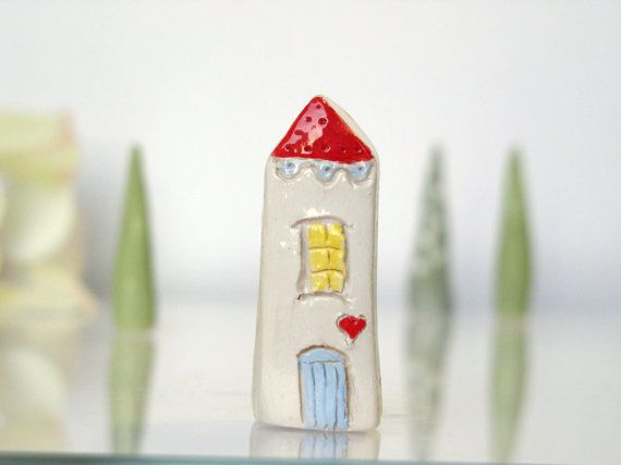 Best My Little Love House Handmade Clay White House With Red 640 x 480