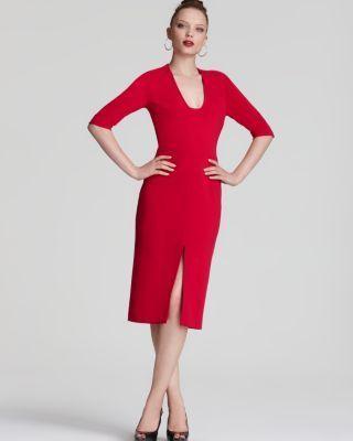 Diane von Furstenberg NEW Phyllis Pink Sheath Slit Front Wear to Work Dress