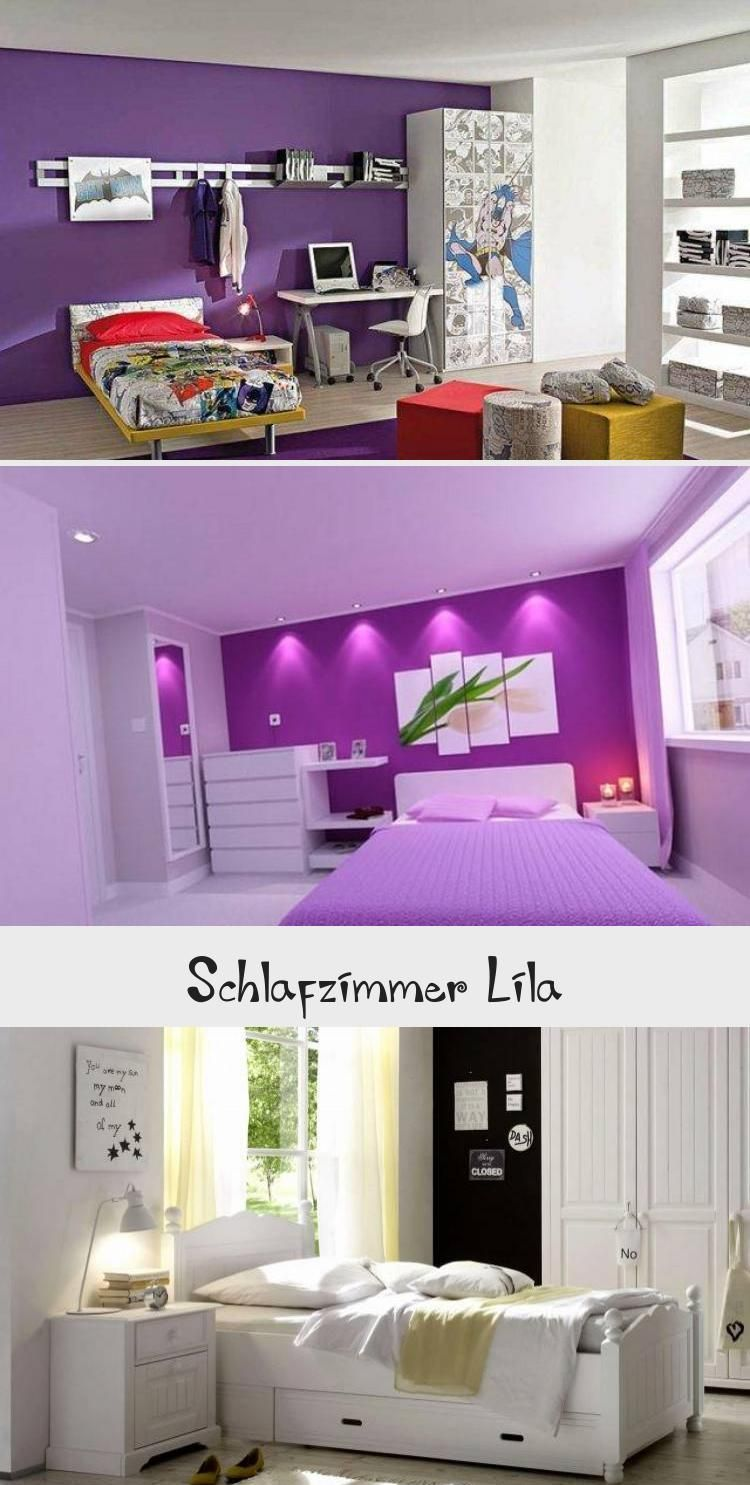 Wandtattoo Teenager Madchen Elegantes Schlafzimmer Schwarz Lila