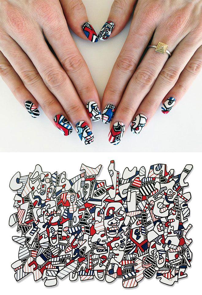 Nail Art History | Map nails, Nail art images and Simple nail arts