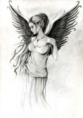 Angel By Anna Marine Tatouages Dessin Tatouage Tatouage