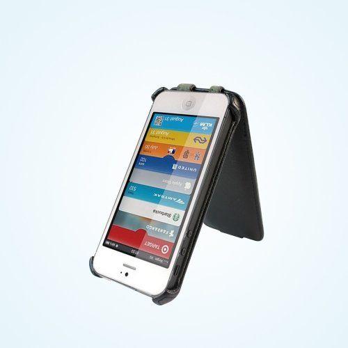 Bear Motion (TM) Premium Flip Folio Case for iPhone 5 – (Black)