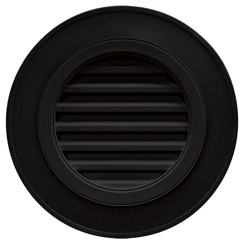 Builders Edge 28 In Round Gable Vent In Black Without Keystones Gable Vents Fiberglass Screen Architecture Details