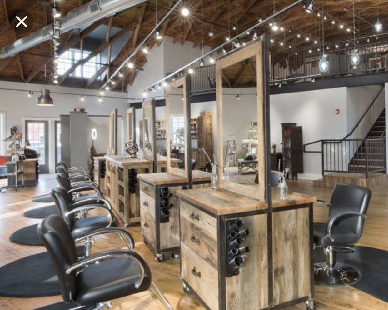Misunderstood Rustic Salon Decor Rustic Salon Hair Salon Interior