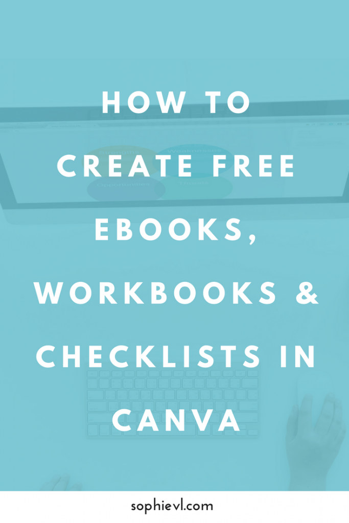 How to make a Pdf eBook, Workbook or Checklist using Canva