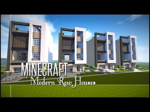 Modern Architecture House Minecraft minecraft let's build - modern row/town houses +download - youtube