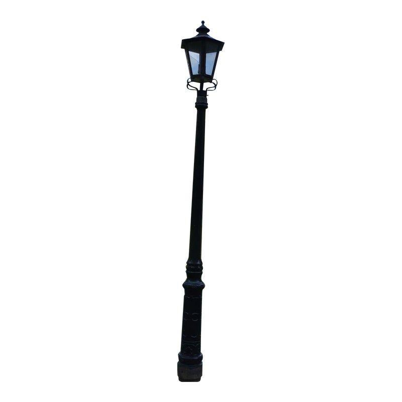 Welsbach Gas Street Lamp Cast Iron Pole Original Street Lamp Street Lamp Post Cast Iron