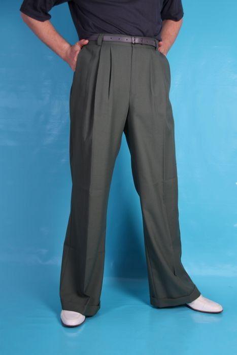 1296083c9a2 1940s Style Mens Anzac Trousers - Khaki