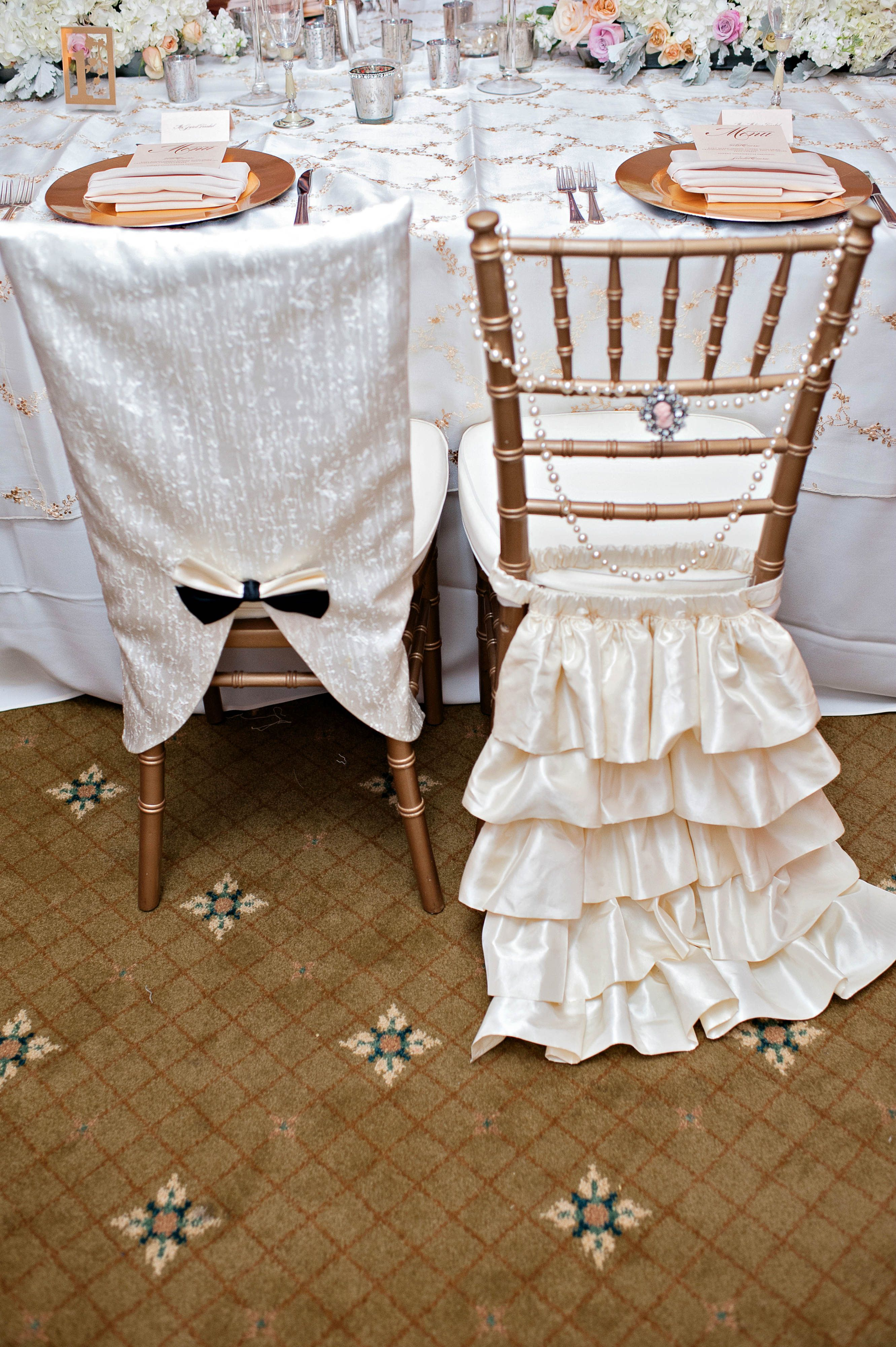 Wedding Bride And Groom Chairs Old Hickory Antique Chivari Chair Covers Super Cute Idea