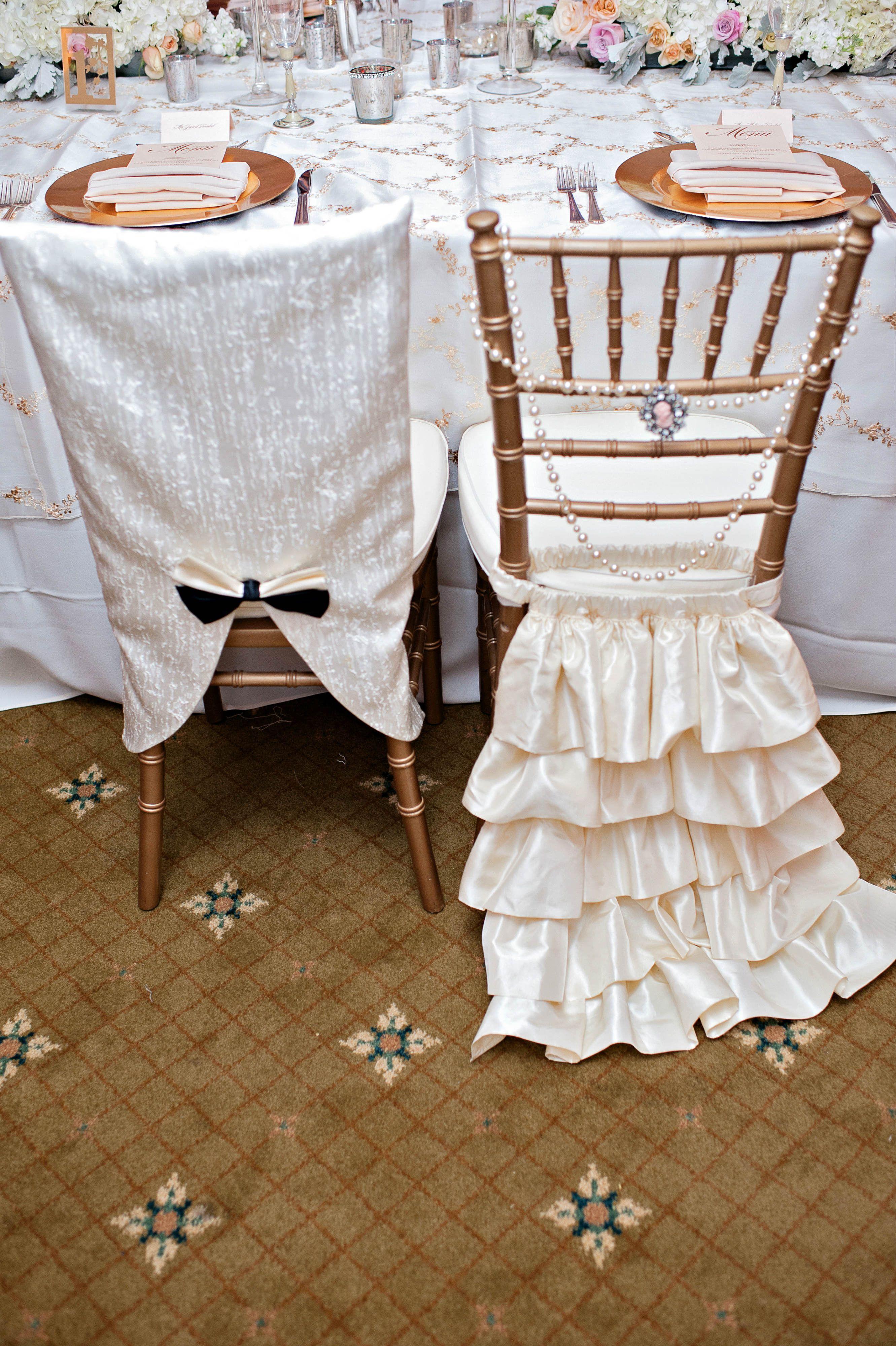 chivari chair covers super cute bride and groom idea