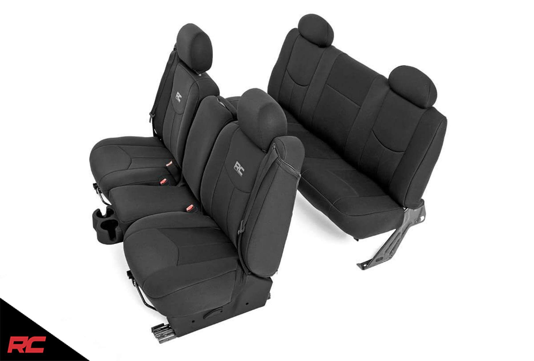 Rough Country Neoprene Seat Covers Sets Black Fits 1999 2006 Chevy Silverado 1500 Water Re Neoprene Seat Covers Custom Fit Seat Covers 2006 Chevy Silverado