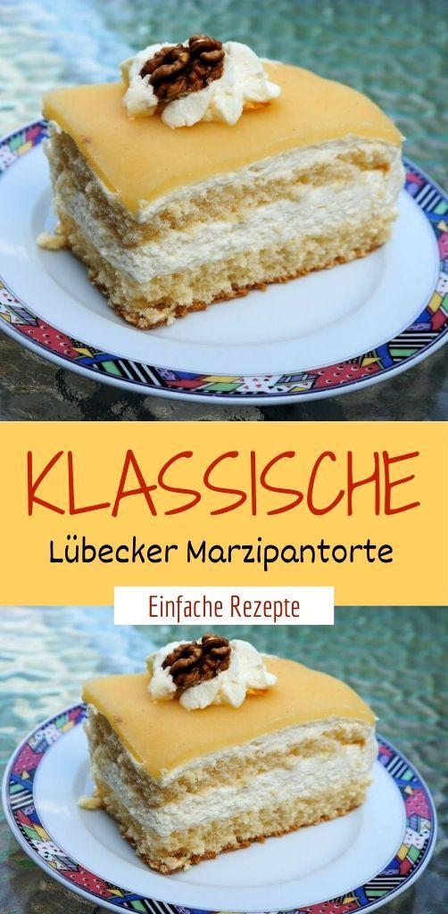 Klassische Lübecker Marzipantorte  #kuchenkekse