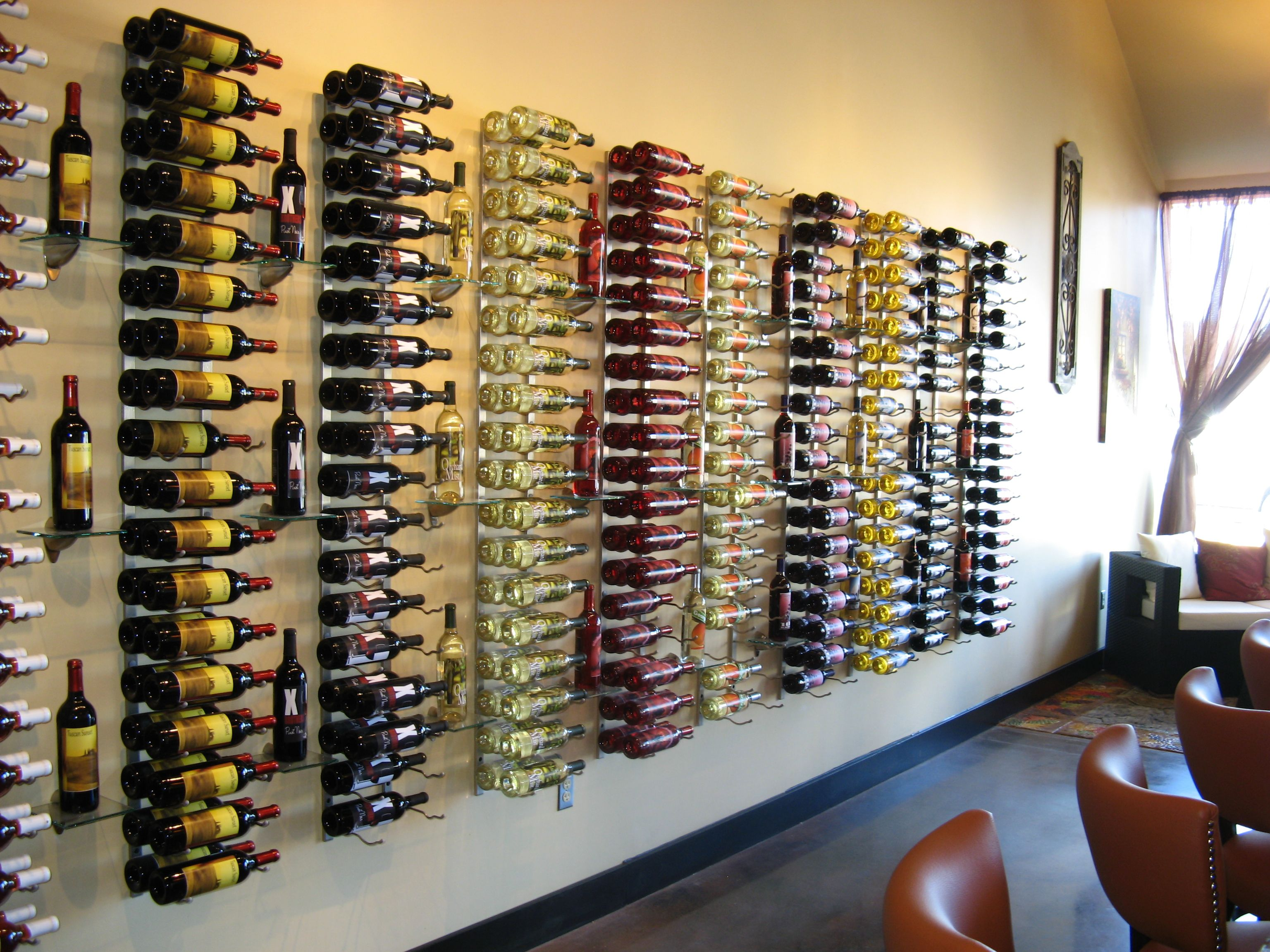 Horizontal Wine Rack Wall Mounted