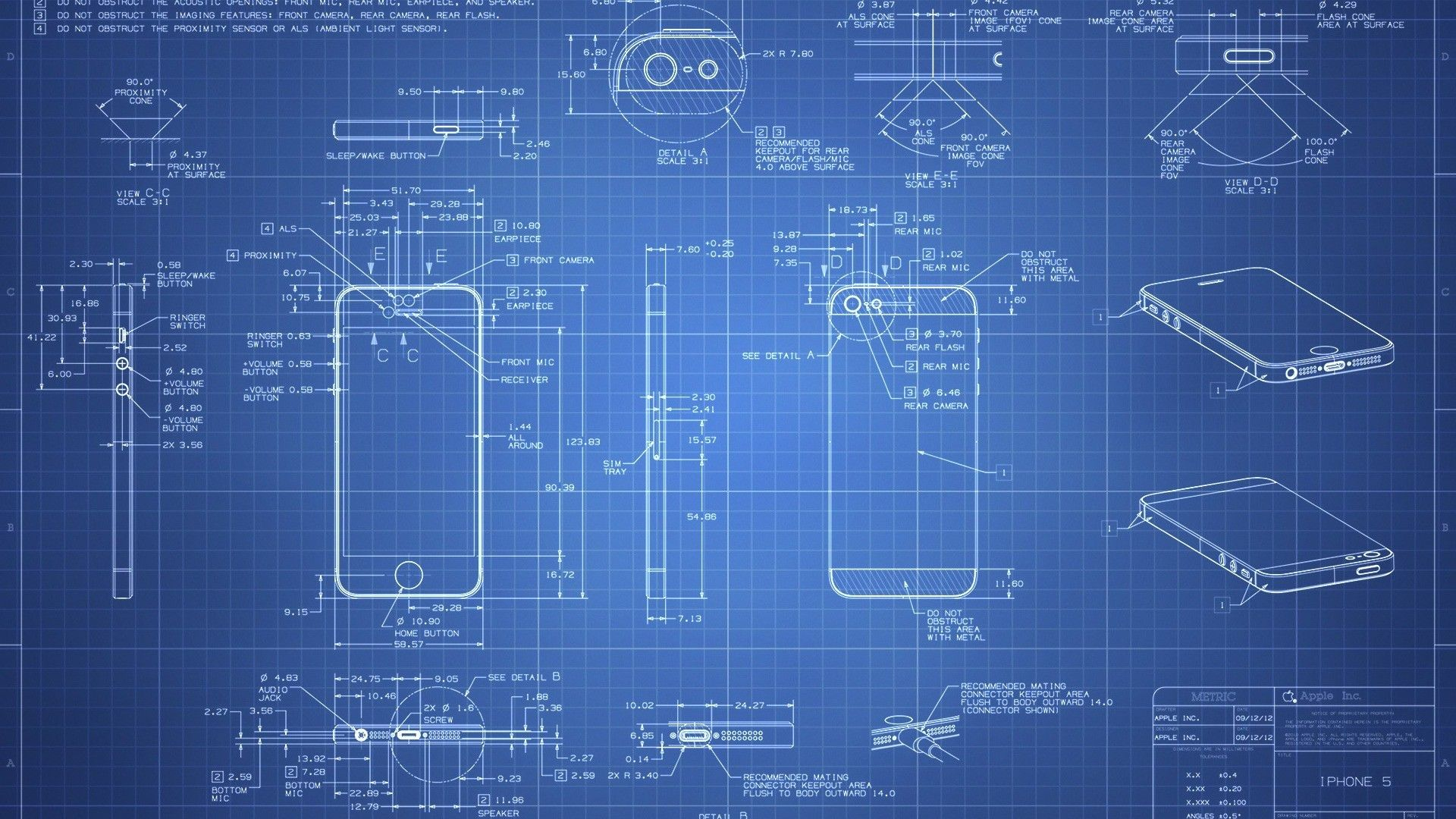 iPhone 5 Blueprint HD Wallpaper | My | Pinterest | Design layouts