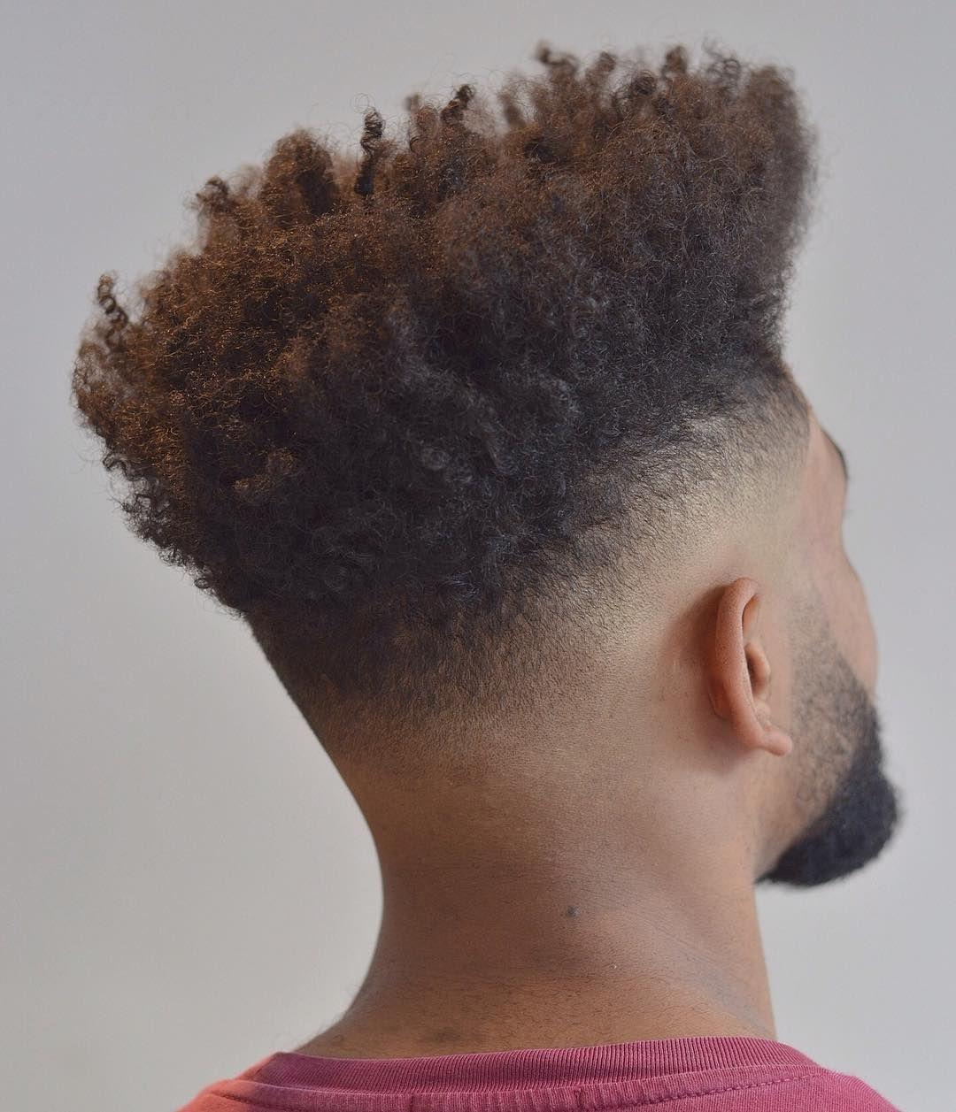 Fade haircuts for black men curly hair pinterest hair cuts