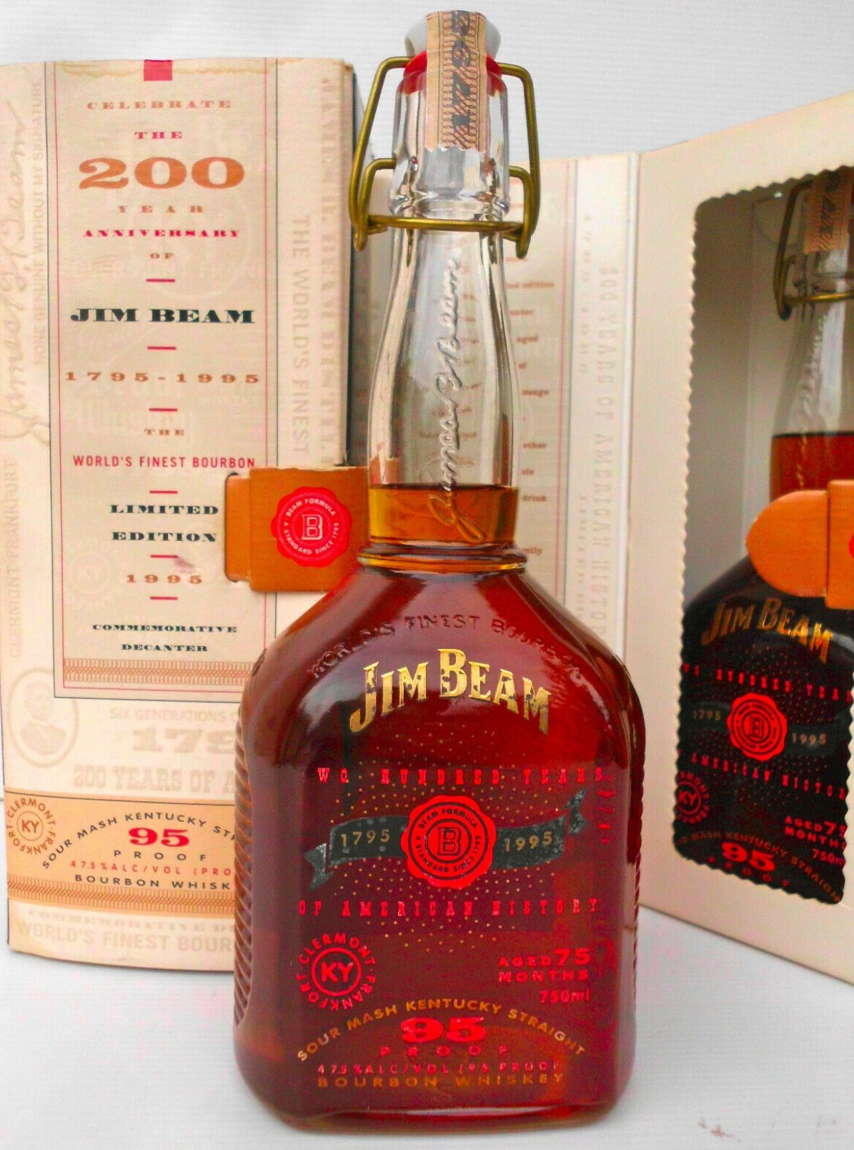 Jim Beam 200 Years Anniversary Bourbon Bottle Cigars And Whiskey Bourbon Whisky Bar