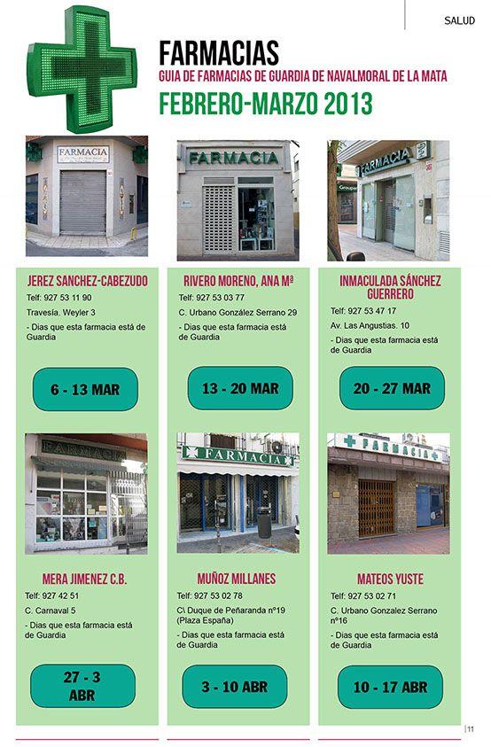 reFarmacias de Guardia - Navalmoral de la Mata - Revista Ciao People