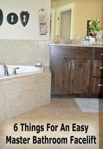 Things For An Easy Master Bathroom Facelift DIY Home Decor Ideas - Bathroom facelift