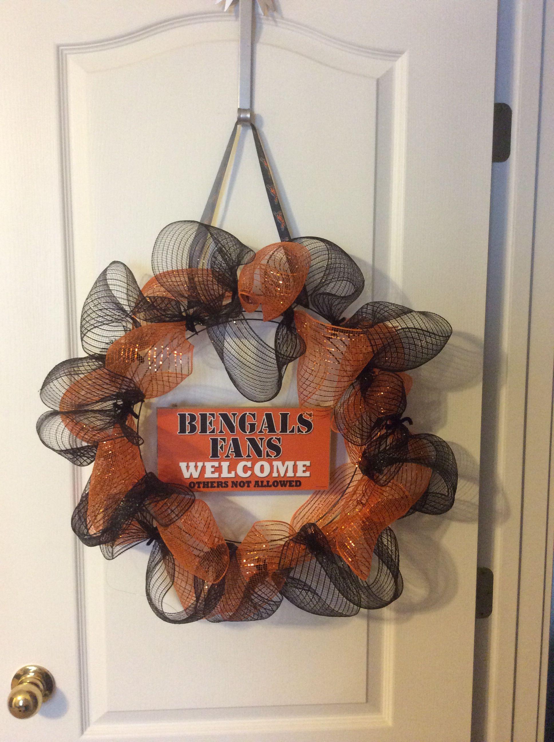 Bengals mesh wreath! #bengals #diy #meshwreath