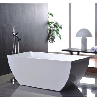 Vanity Art Freestanding 67 White Acrylic Tub Overstock Renovate