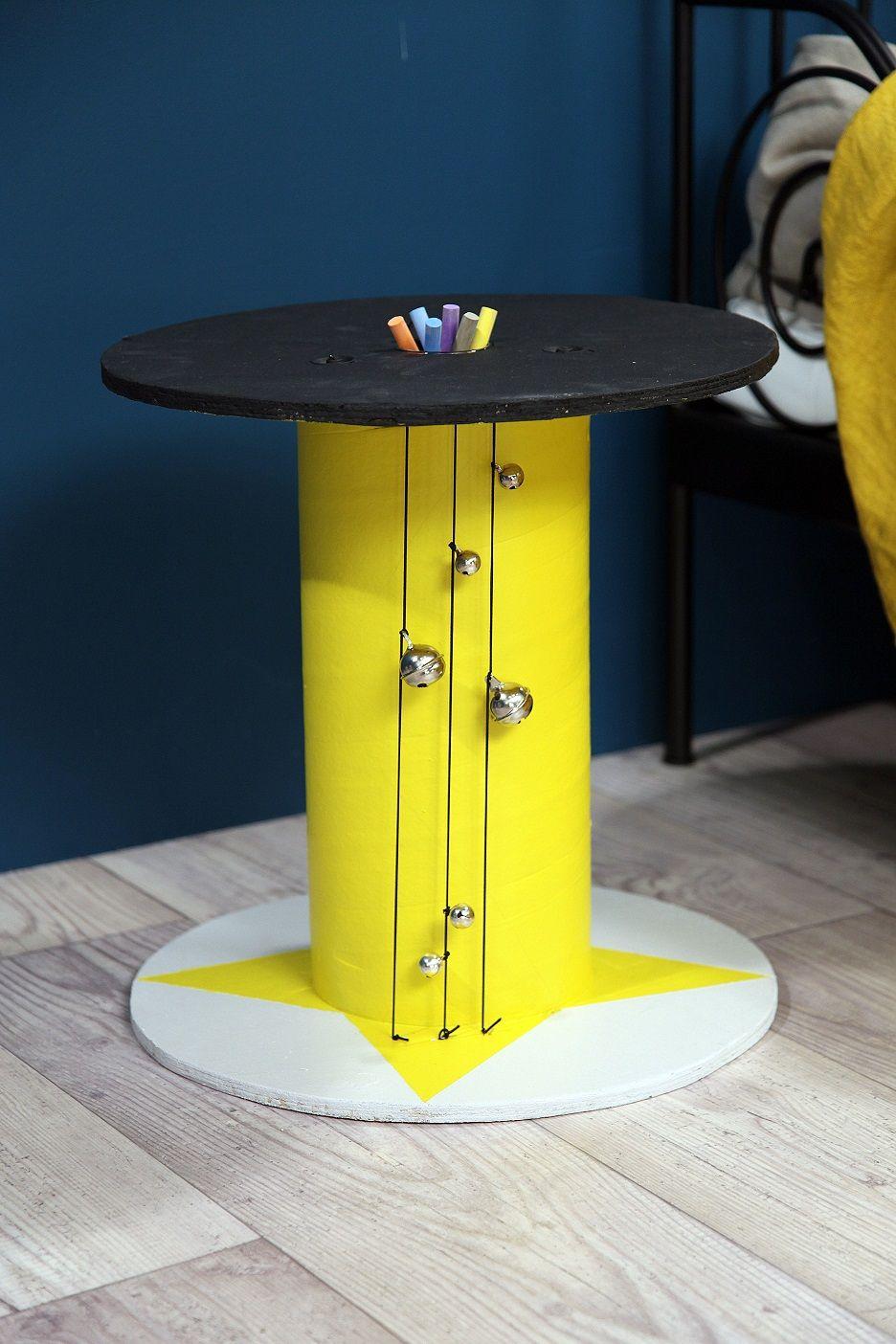 DIY Une table de nuit bobine @Manuelle Tilly #chambre #LesChoristes #tevadeco