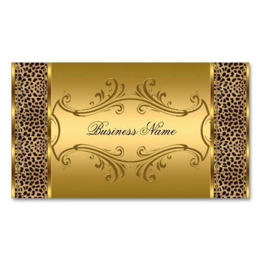 Elegant classy gold black leopard animal print business card elegant classy gold black leopard animal print business card colourmoves Images