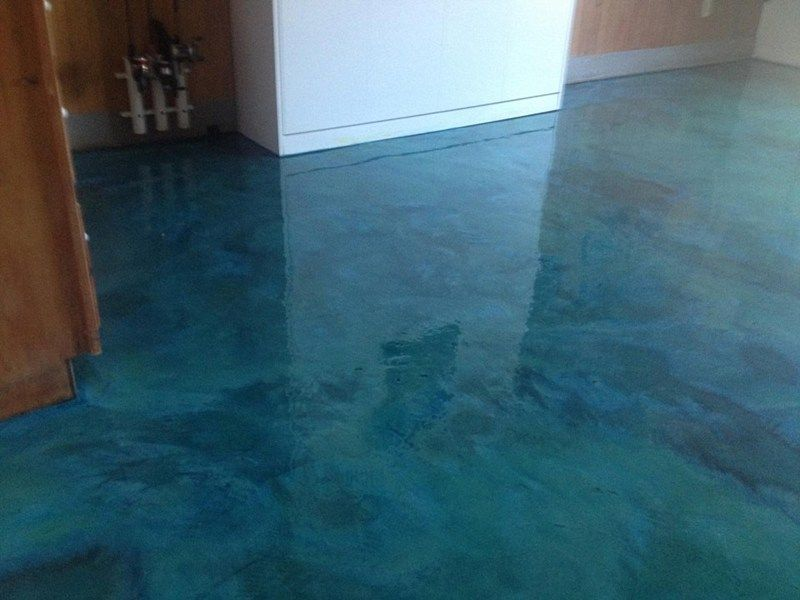 polished concrete floor bedroom blue Google Search flooring