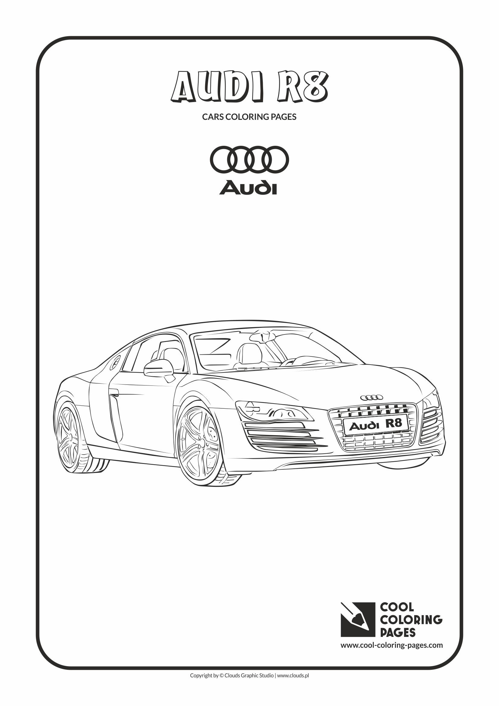 Cool Coloring Pages Vehicles Audi R8 Coloring Page With Audi R8 Cars Coloring Pages Cool Coloring Pages Coloring Pages