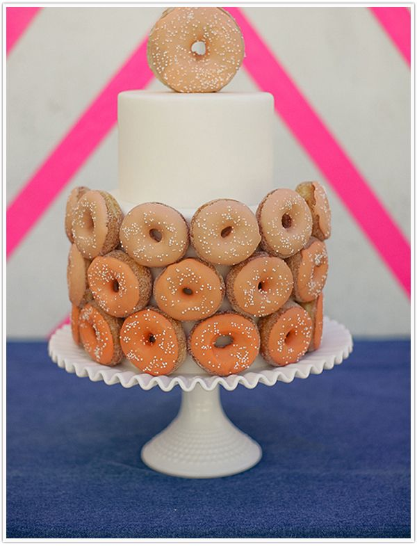 Camille Styles Hole In One Donut Wedding Cake Doughnut Wedding Cake Doughnut Cake