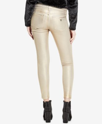 9ba4241c897 Guess Metallic Ripped Skinny Jeans - Tan/Beige 26 | Products ...
