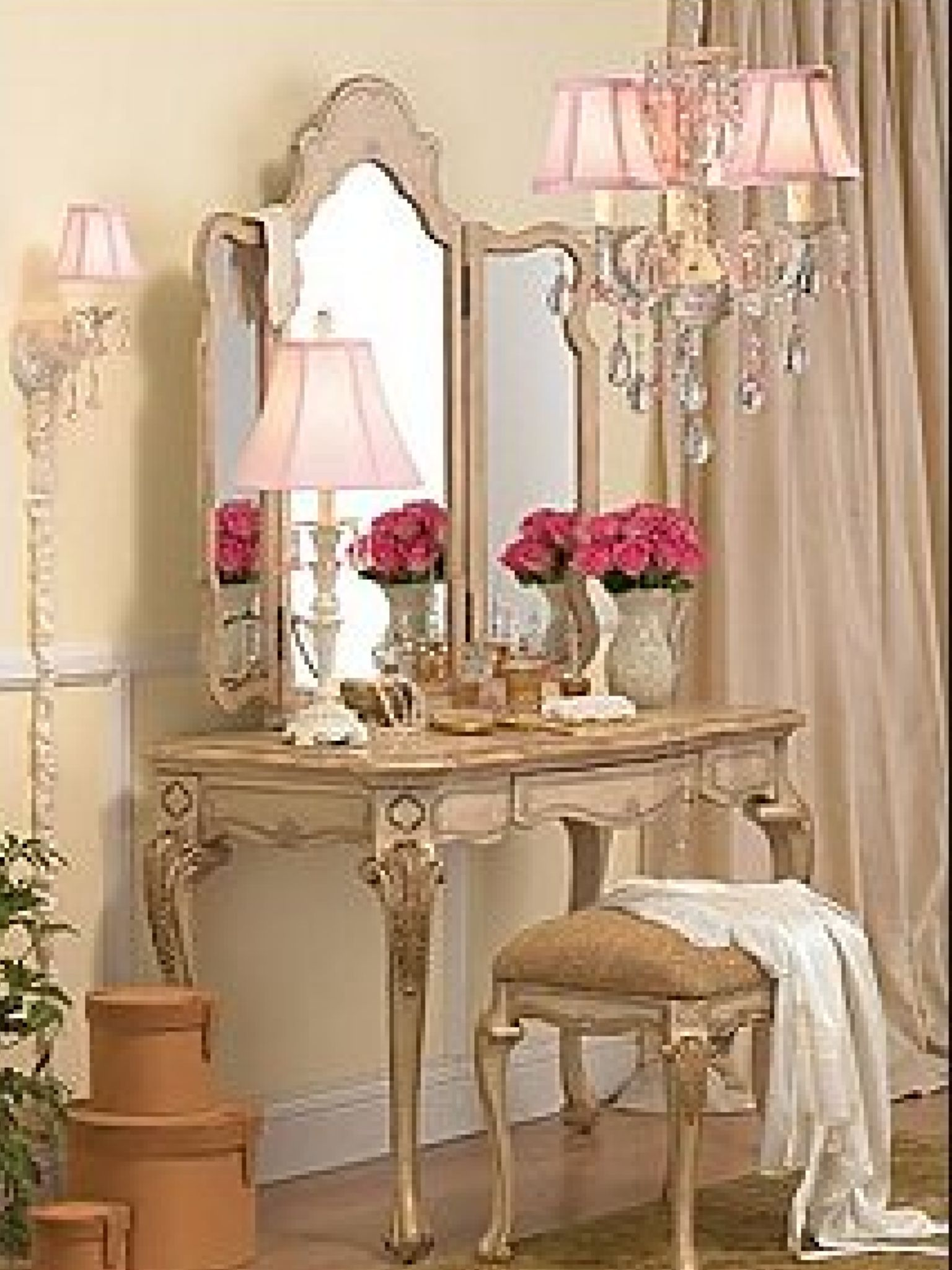 Bedroom table French country furniture, French style