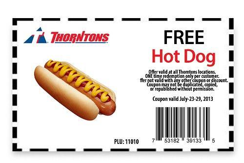 hot dog coupons