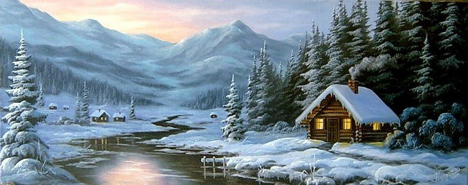 winterzeit winter painting winter scene paintings painting snow