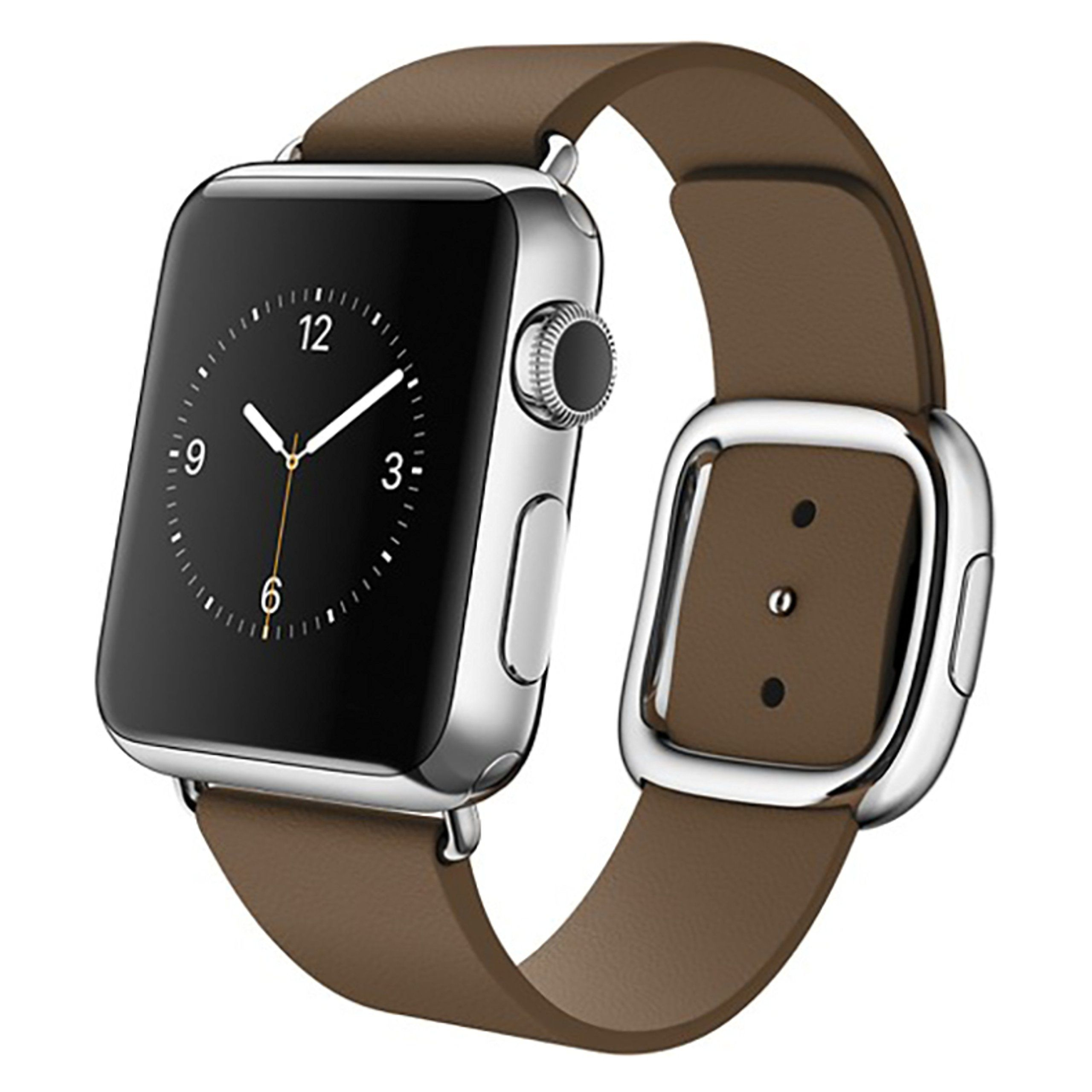 Apple Watch 38mm Stainless Steel Case With Brown Modern Buckle Small Certified Refurbished Read More Reviews O In 2020 Apple Watch Smart Watch Apple Buy Apple Watch