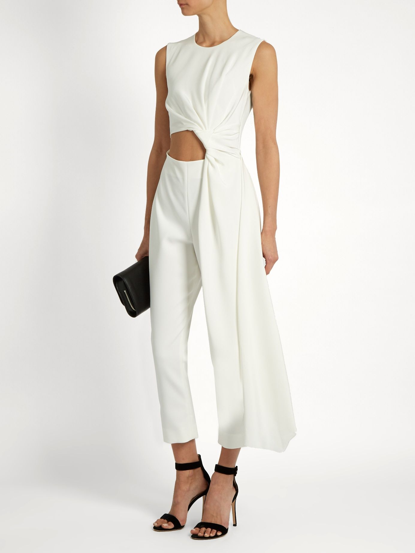 4d63797e45eb Click here to buy Roksanda Thurloe cut-out knot-front crepe jumpsuit at  MATCHESFASHION.COM