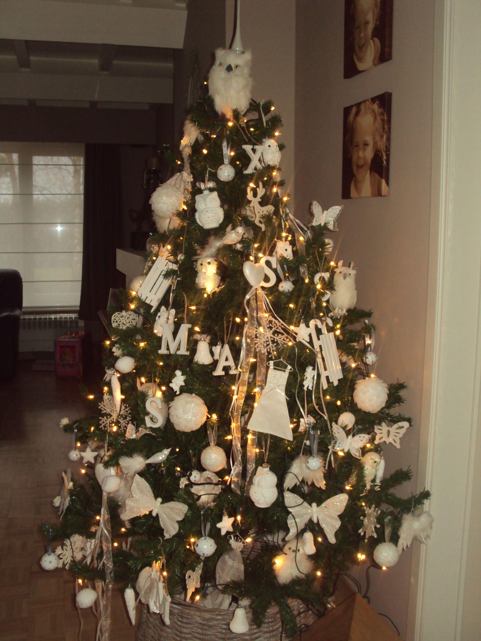 Kerstboom Thema Wit Uiltjes Decoraciones Navidenas Kerstboom