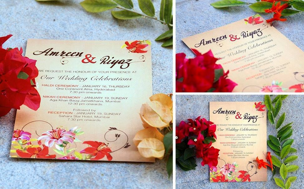 lotus flower wedding invitations%0A A floral themed invite by ThumbSpark Creative    Invitation IdeasWedding  Invitation