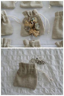 pochon coton naturel et lien coton pour clé usb de photographe. Tampon à appliquer.