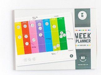 Vrolijk planbord met 80 magneetjes. Meer rust, zelfstandigheid en plezier!